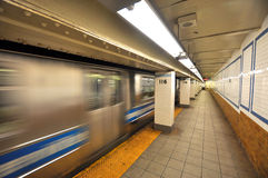 New york subway motion blur Royalty Free Stock Photography