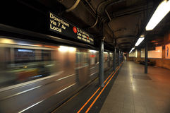 New york subway motion blur Royalty Free Stock Photo