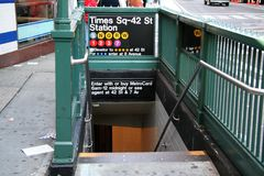 Free New York Subway Station Royalty Free Stock Images - 1411759
