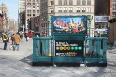 New York City Subway Station Royalty Free Stock Image