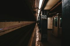 The New York Subway station royalty free stock photography