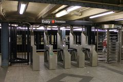 New York Subway Ticket Booth Royalty Free Stock Photos