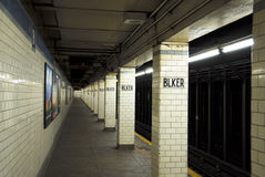 New York Subway Train Station Stock Images