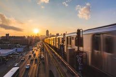 New York Subway Train Royalty Free Stock Photography