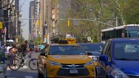 New york summer day manhattan street life walking crossroad 4k usa stock video footage