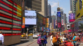 New york summer day times square relax place flag view 4k usa. Usa new york summer day times square relax place flag view 4k stock video