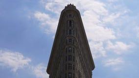 New york summer sky famous flat iron top 4k usa stock footage