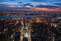 New York after sunset. View on New York after sunset Royalty Free Stock Photography