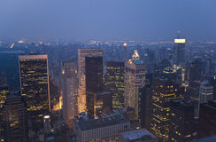 New York , sunset. Image of New York at sunset , view from top stock images