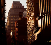 New York at sunset stock images