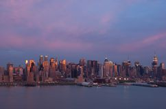 New York at sunset Stock Photo