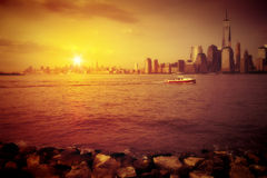 New York Sunset Stock Images