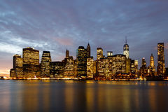 New York Sunset Stock Photo