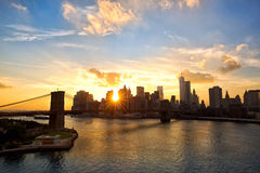 New York at sunset Stock Image