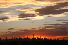 New York sunset Stock Image