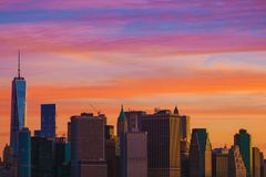 New York Sunset Scenery Royalty Free Stock Image