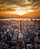 New York sunset Royalty Free Stock Photo