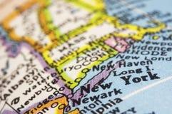 New York sur la carte Image libre de droits