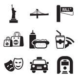 New York symboler vektor illustrationer