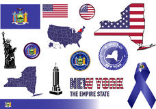 New York symbolsuppsättning Royaltyfri Fotografi