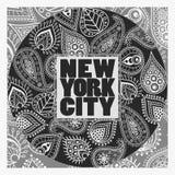 New York T-shirt fashion Typography Stock Photography