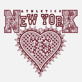 New York T-shirt fashion Typography Stock Photos