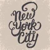 New York t-shirt graphics. New York City wear typography, hand drawn lettering emblem, urban t-shirt stamp graphics, tee grunge print apparel design Stock Photography