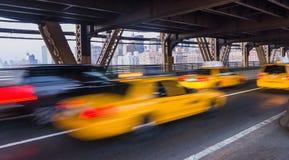 New York taxar Fotografering för Bildbyråer