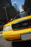 New York taxi - blurred background stock image