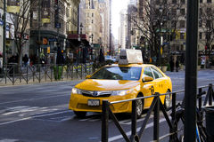 New York Taxi. New York City taxi going down the road Stock Images