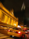 New York Taxi driving past Grand Central Station Royalty Free Stock Image