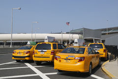 New York Taxi line next to JetBlue Terminal 5 at John F Kennedy International Airport in New York Royalty Free Stock Photography