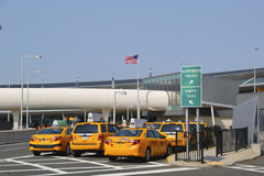 New York Taxi line next to JetBlue Terminal 5 at John F Kennedy International Airport in New York Royalty Free Stock Image