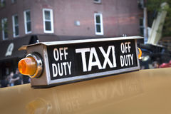 New York taxi sign vintage Royalty Free Stock Photos