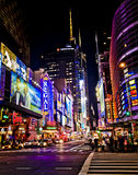 New York teaterområde arkivbild