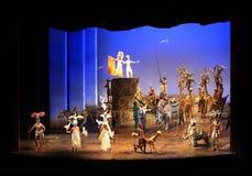 New York. Teatro de Minskoff. O rei do leão fotos de stock royalty free