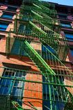 New York Tenement Fire Escape Stock Photography