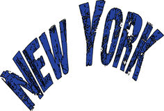 New York text sign Stock Photography