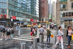 New York 58th Street Royalty Free Stock Photography