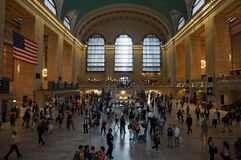 Free New York - The Grand Central Terminal Clock With Flag Stock Photo - 151440310