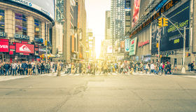 New york, time square cross. New york, Time square. 27th september, 2015. Time square cross. Times Square is a major commercial intersection and neighborhood in Stock Image