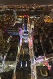 New York Time Square från över Fotografering för Bildbyråer