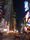 New York Time Square. At night Royalty Free Stock Images