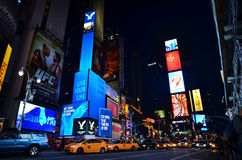 New York Time Square. A night view of New York Time Square Royalty Free Stock Images
