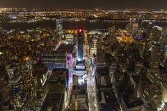 New York Time Square van hierboven stock fotografie