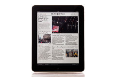 New York Times. Apple iPad New York Times News Application royalty free stock photography