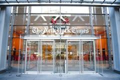 Κτήριο εφημερίδων των New York Times Στοκ Φωτογραφίες