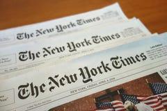 New York Times Imagen de archivo libre de regalías