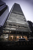 The New York Times Building. Is a skyscraper on the west side of Midtown Manhattan that was completed in 2007. Its chief tenant is The New York Times Company Royalty Free Stock Photo