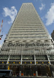 New York Times Building. Taken with wide angle lens. New York City royalty free stock photography